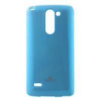 Чехол накладка силиконовый TPU Mercury для LG G3 Stylus D690N D690 голубой