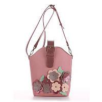 49a1634e9fc4 Сумка маленькая через плечо женская Alba Soboni 190263 розовая с цветами