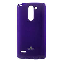 Чехол накладка силиконовый TPU Mercury для LG G3 Stylus D690N D690 фиолетовый