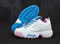 Кроссовки женские Fila Disruptor II реплика ААА+ размер 37-40 розовый (живые фото), фото 1