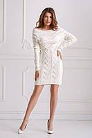 Платье вязаное белое, фото 1