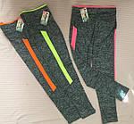 Леггинсы женские лосины с яркими вставками , фото 2