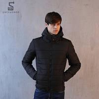 Демисезонная мужская куртка Pobedov Jacket Rise черная