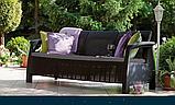 Тримісна софа зі штучного ротангу CORFU LOVE SEAT MAX графіт ( Allibert ), фото 4