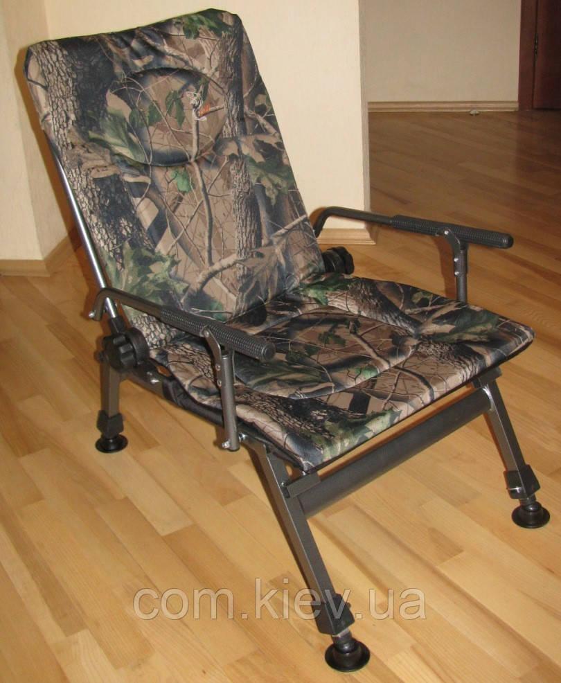 Кресло карповое камуфлированное Elektrostatyk F5R. В наличии. Есть самовывоз в Киеве