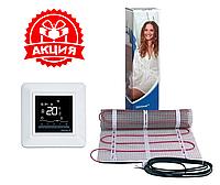 Теплый пол DEVI 4м² DTIR-150Ват/м² 600Ват нагревательный мат с программируемым терморегулятором DEVIreg Opti