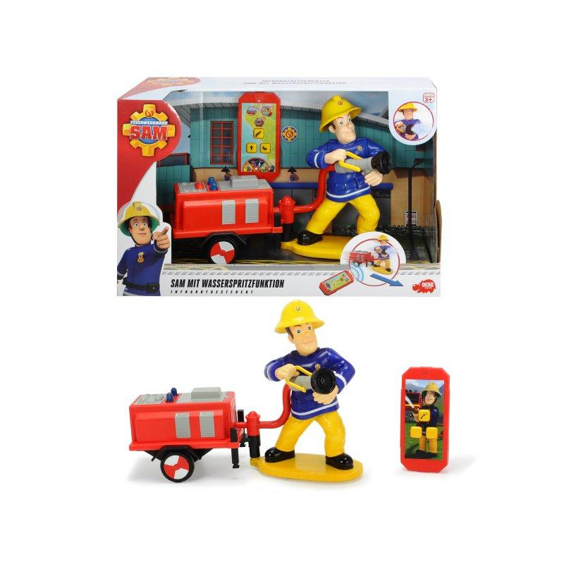 Фигурка Пожарный Сэм с пультом Dickie 3095008
