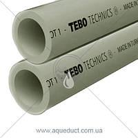 ППР труба PN20 для горячей воды Ø20мм Tebo (серый)