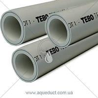 Труба армированная Stabi (зачистная) Ø25мм Tebo (серый)