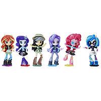 My Little Pony Equestria Girls Девочки Эквестрии набор из 6 пони Starlight Glimmer Daring Do Dazzle Pinkie Pie Sunset Shimmer Rarity DJ