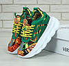 Женские кроссовки Versace Chain Reaction 2 Chainz green. Живое фото (Реплика ААА+)