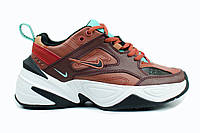 Женские кроссовки Nike M2K Tekno mahogany. Живое фото (Топ реплика ААА+), фото 1