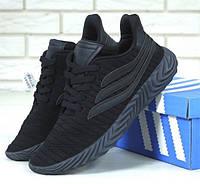 Мужские кроссовки Adidas Sobakov Triple Black. Живое фото. Топ реплика ААА+, фото 1