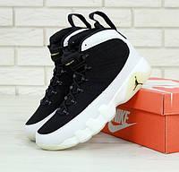 Мужские кроссовки Air jordan 9 melo black white. Живое фото (Реплика ААА+), фото 1