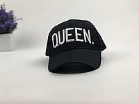 Кепка черная Queen logo   логотип вышит, фото 1