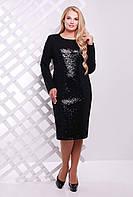Платье с  пайетками ASTI черное, фото 1