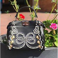 Женская сумочка Fendi с жемчугом - реплика, фото 1