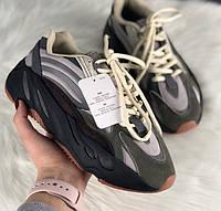 Женские кроссовки Adidas X Kanye West yeezy 700 v2 grey.  Живое фото. (Реплика ААА+), фото 1