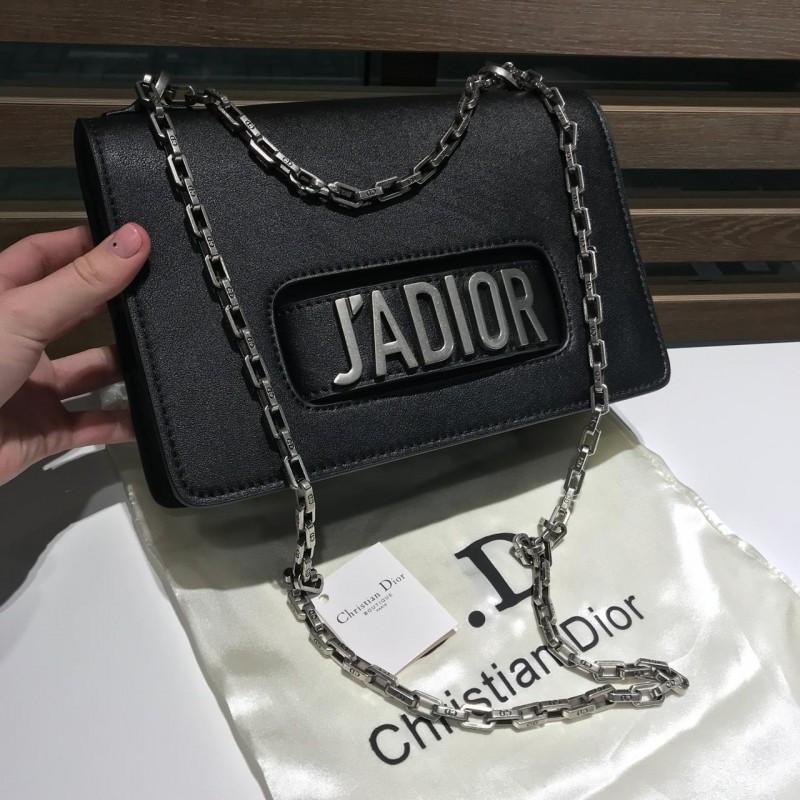 Женская сумочка J'ADIOR black&silver - реплика