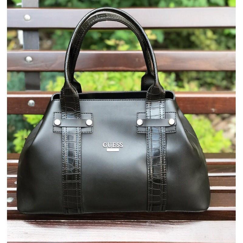 Красивая женская сумочка Guess черная (реплика)