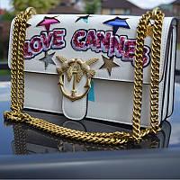 Стильная женская сумочка Pinko с надписью Love Cannes - реплика, фото 1