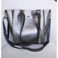 Стильная женская сумочка Zara серебро (реплика), фото 1