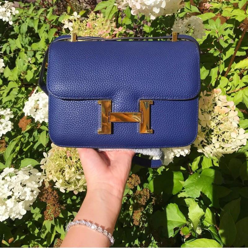 Сумка женская Hermes синяя - реплика, фото 1