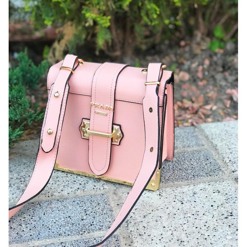 Сумка женская Prada розовая - реплика