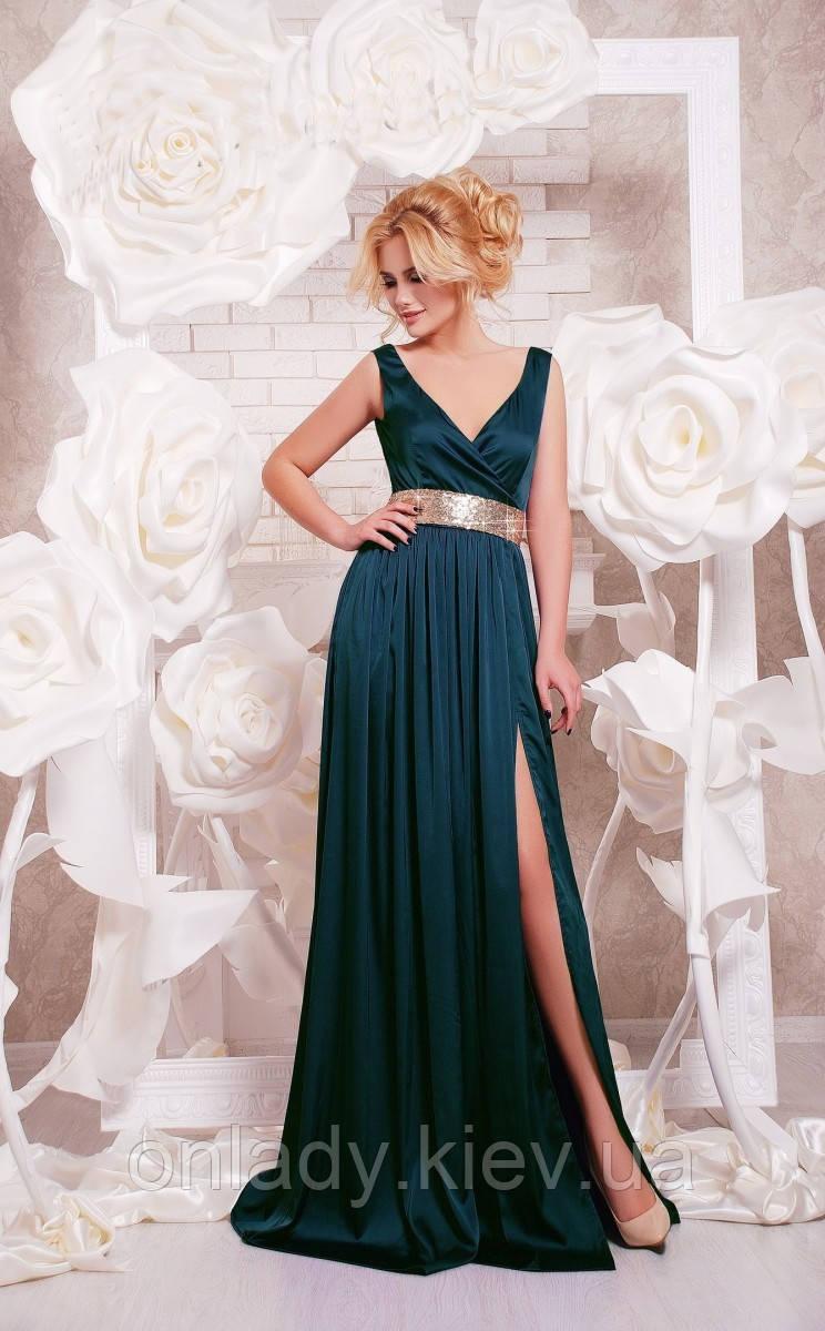081ed611c75 Длинное вечернее зеленое платье с вырезом (S M)  Примерка и 30 дней ...