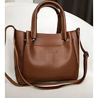 Брендовая сумка ZARA / Зара коричневая - реплика, фото 1