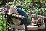 Комплект садових меблів зі штучного ротангу CORFU QUATTRO SET темно-коричневий (Allibert), фото 7