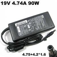 Блок питания для ноутбука HP/Compaq 19V 4.74A 90W (4.75+4.2)*1.6 bullet