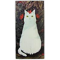 Чехол с рисунком Printed Silicone для Sony Xperia XA1 Plus Кошка