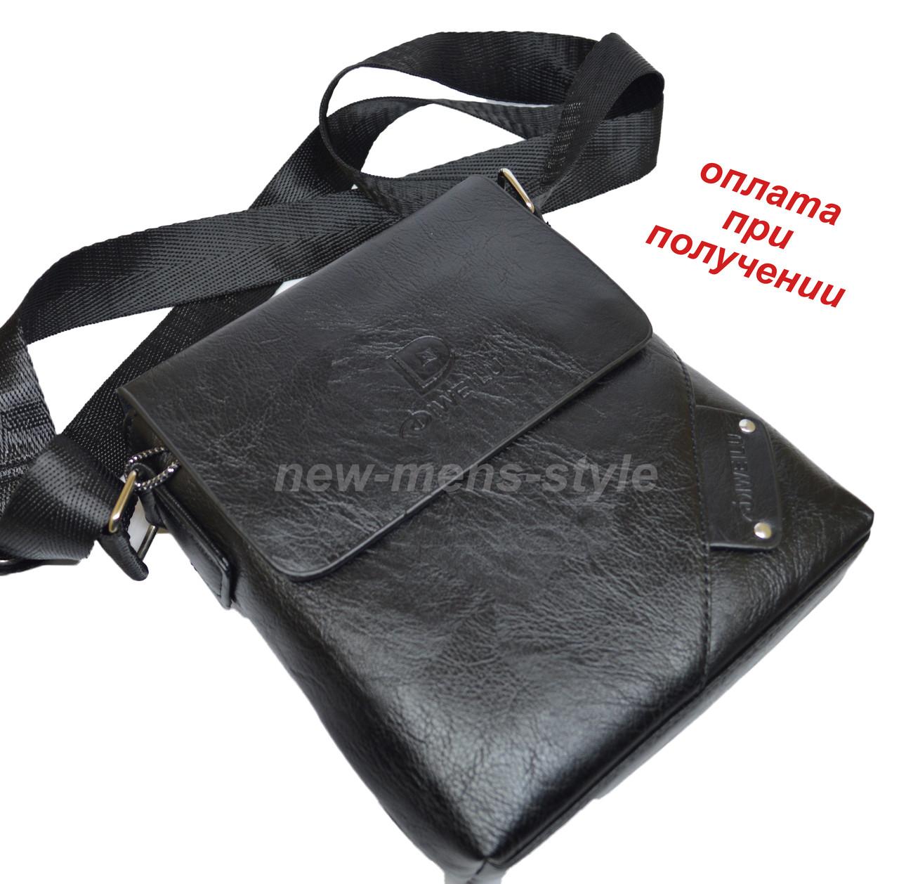 72ccf5d487f6 Мужская чоловіча кожаная натуральная сумка барсетка через плечо DIWEILU
