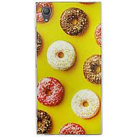 Чехол с рисунком Printed Silicone для Sony Xperia XA1 Plus Пончики