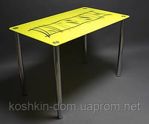 Стол стеклянный Бамбук обеденные столы