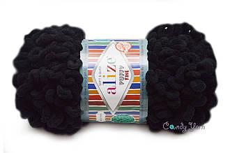 Alize Puffy Fine NEW, Черный №60