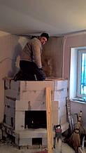 теплота в доме , монтаж дымоходов для твердотопливных котлов, камины монтаж, наши работы  6