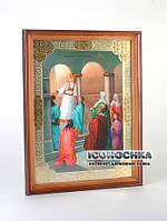 Введение во храм (икона в деревянной раме) (250x325 мм)