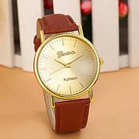 Женские часы Geneva Platinum коричневые
