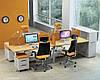 Рабочее место 4х офисных сотрудников с экранами  М1 , фото 2