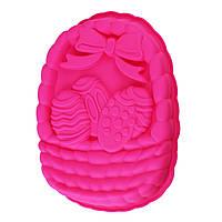 ✅ Форма для сирної паски, Пасха, колір – Рожевий, це силіконова, форма для випічки пасок