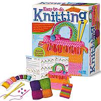 Детский набор для вязания 4M Простое вязание (00-02753)