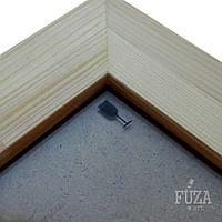 Рамка деревянная 20х30см, ширина 5см, с ДВП, со стеклом, для фото, картин и др.