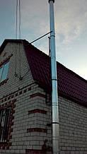 теплота в доме , монтаж дымоходов для твердотопливных котлов, камины монтаж, наши работы  13