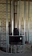 теплота в доме , монтаж дымоходов для твердотопливных котлов, камины монтаж, наши работы  14