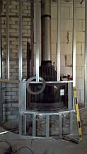 теплота в доме , монтаж дымоходов для твердотопливных котлов, камины монтаж, наши работы  16