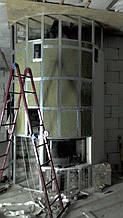 теплота в доме , монтаж дымоходов для твердотопливных котлов, камины монтаж, наши работы  19