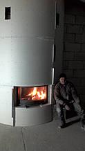теплота в доме , монтаж дымоходов для твердотопливных котлов, камины монтаж, наши работы  23