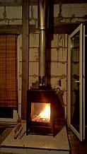 теплота в доме , монтаж дымоходов для твердотопливных котлов, камины монтаж, наши работы  30